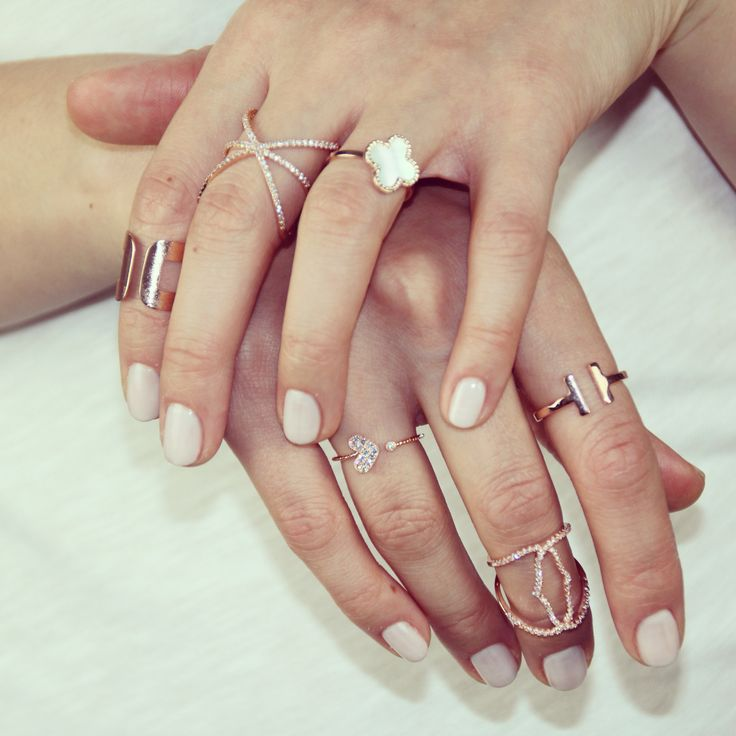 #stackitup #layer the rings you love! We loce stacking as it allows us to have a new hand party every day! We have layered our amazing stacking ring collection. Bijouxplace.com/rings/stacking-rings/