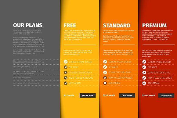 Product Service Price Compare Table 레이아웃 사인 디자인 레이아웃 디자인