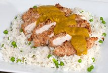 This is a chicken katsu receipe from Slimming World so, as you'd expect, it's low fat and calorie. The sauce is just incredible and packed full of veggies. It does take a bit of time, but it's well worth the effort. A healthy alternative to a Saturday night takeaway.