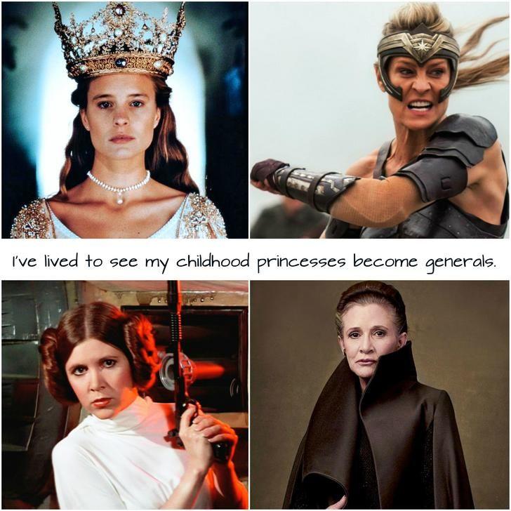 I've lived to see my childhood princesses become generals #starwars #princessbride #wonderwoman