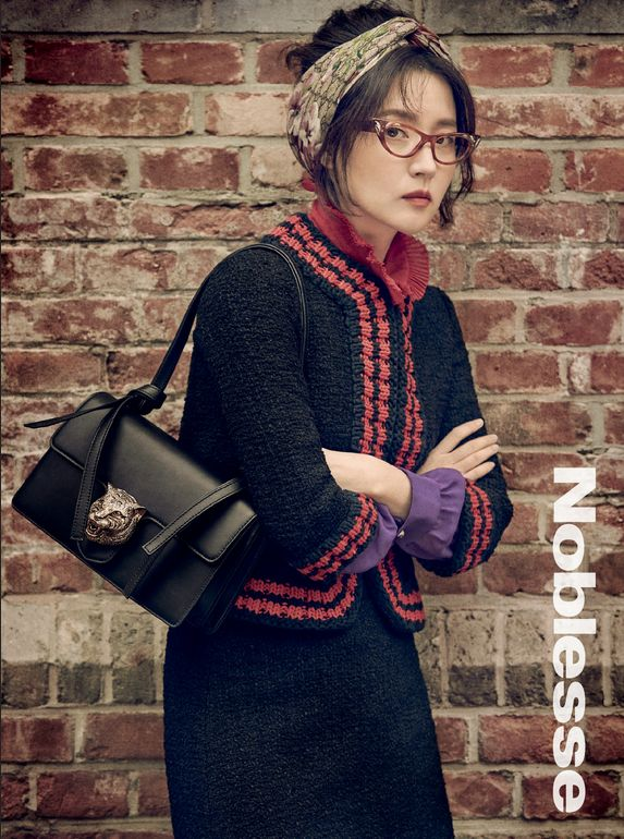 Lee young Ae for Noblesse Magazine December 2015 - Gucci Resort 2016