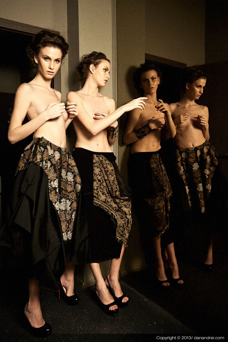 Heritage by Sandra Galan - draped skirts decorated with opulent vintage Romanian embroidery / Photographer: Dan Andrei / WWW.SANDRAGALAN.COM