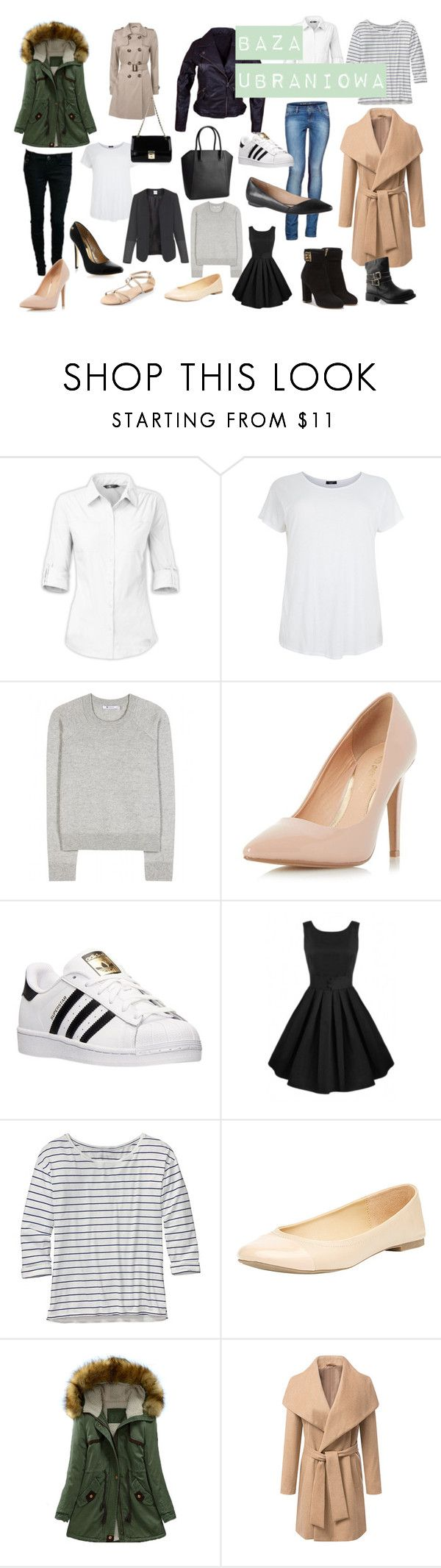 """Baza Ubraniowa"" by agata-woronowicz on Polyvore featuring moda, The North Face, T By Alexander Wang, Dorothy Perkins, H&M, adidas, SKORA, Patagonia, ALDO i Salvatore Ferragamo"