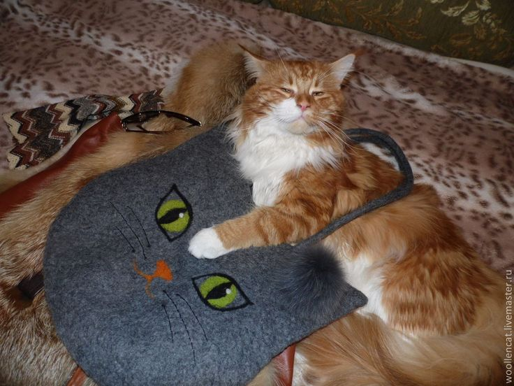 """Купить Котосумка """"Мисс Мяу"""" - серый, кошка, сумка, котосумка, кошка-сумка, сумка с кошкой"""