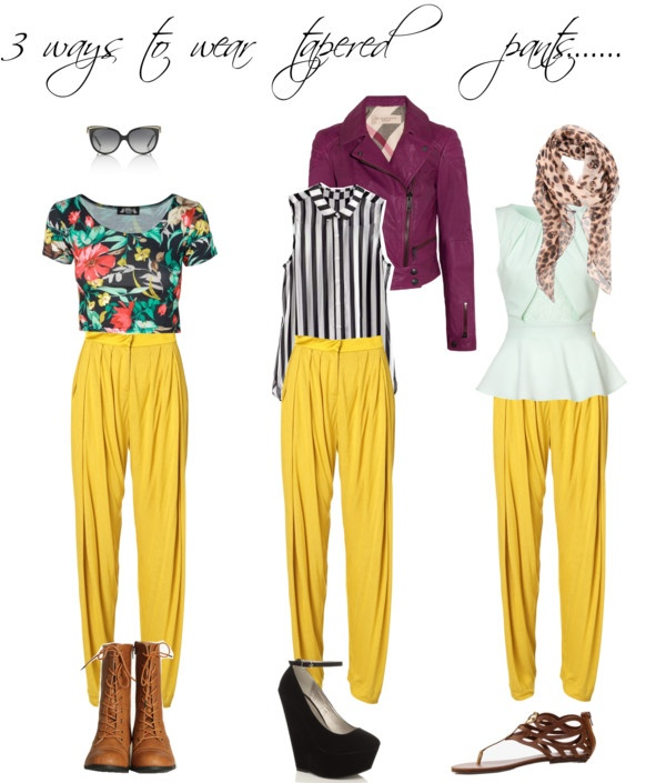 """3 way tapered pant"" by polyvorian1664 on Polyvore"