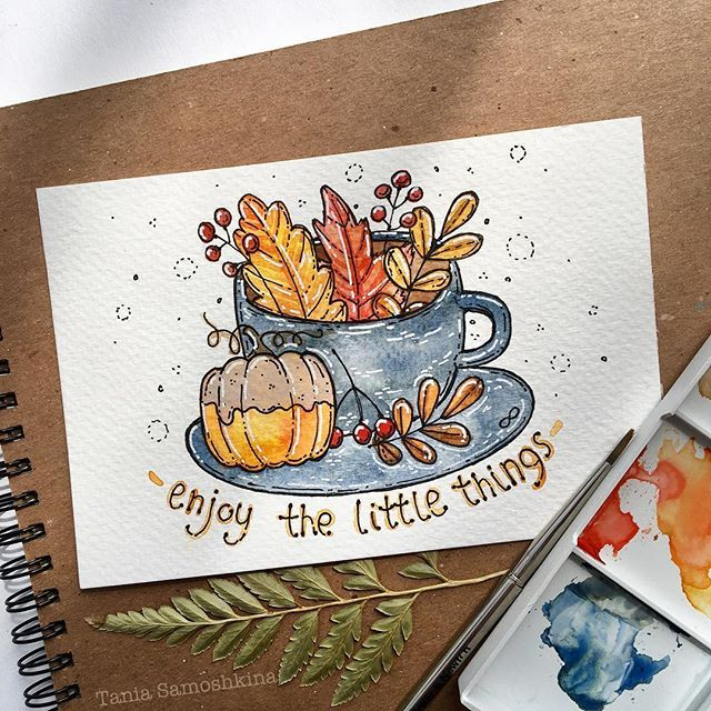 enjoy #tania_autumndraw #watercolorart #artistsoninstagram #inspiration #autumnart #illustration
