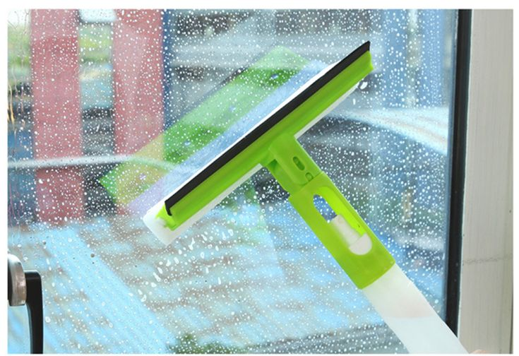 Home Tools Window Squeegee Microfiber Scrubber and Spray Bottle All in One Squeegee