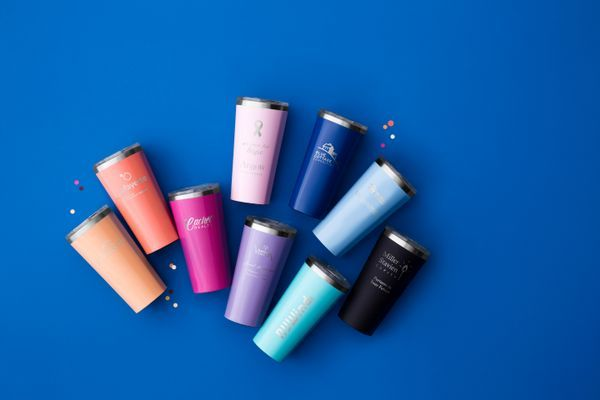 Our personalized Corkcicle 16 oz. Stainless Steel Tumbler is triple-insulated to keep drinks hot for up to 12 hours and cold for 25 hours. Vacuum-sealed with a spill-proof lid to keep in the temperature, the tumbler fits in standard cup holder for on-the-go convenience. Personalize the front and back of this travel mug with a name, monogram or a greeting for the day.