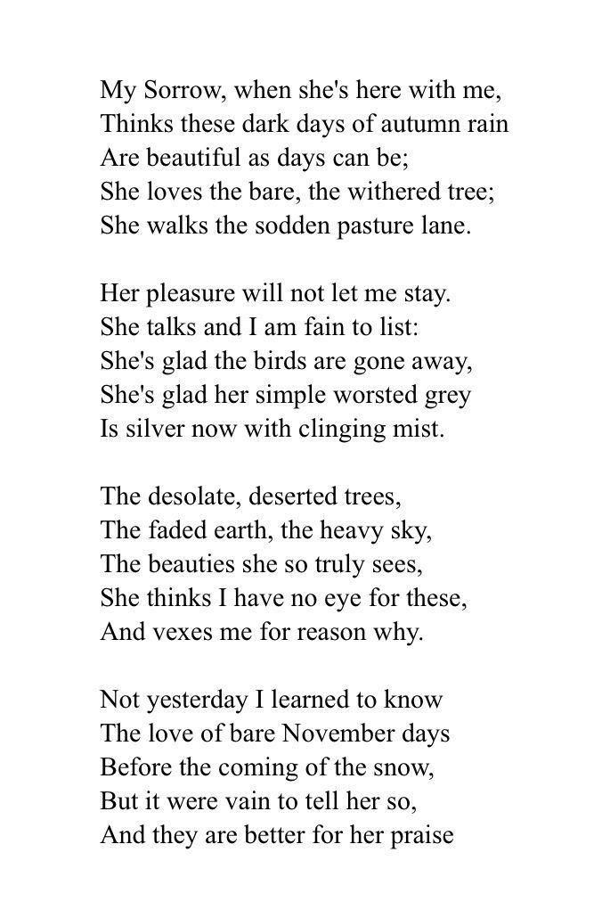 My November Guest - Robert Frost