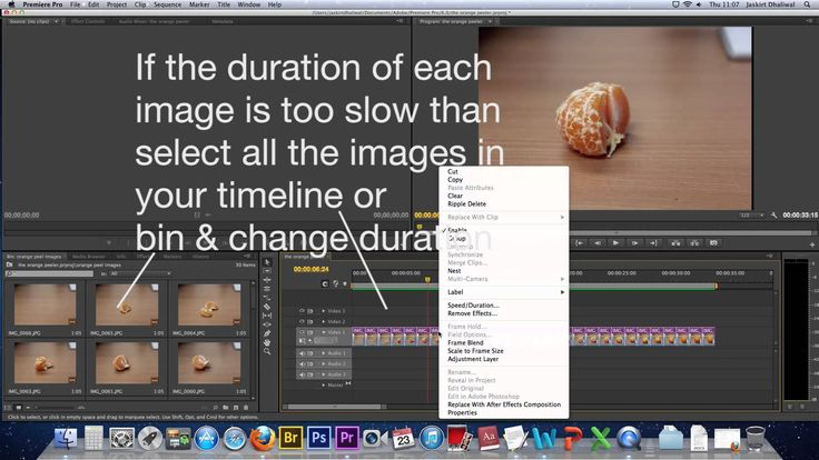 How to Create a Stop Motion video using photographs in Adobe Premiere Pr...