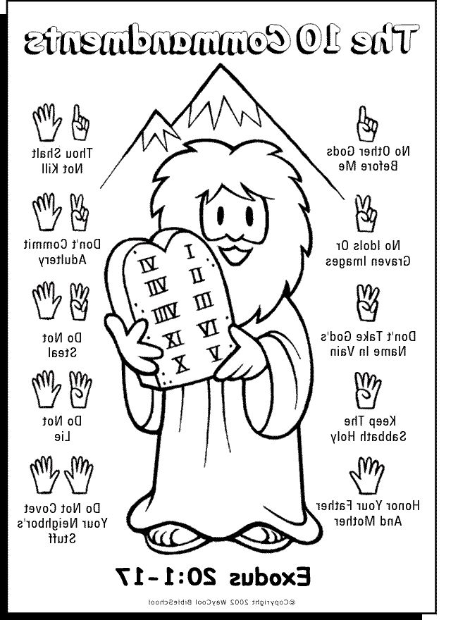 Ten commandments coloring picture hd | Coloringtopia.com