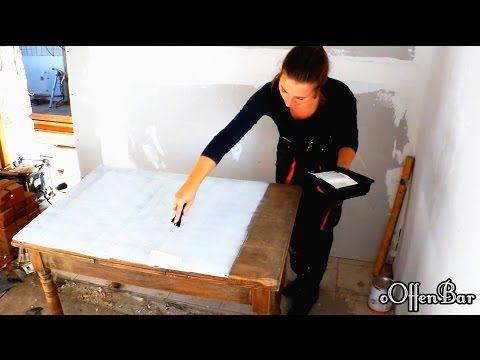 DIY-Alten Esstisch neu aufbereiten zum Schreibtisch/shabby chic ....oOffenBar - YouTube