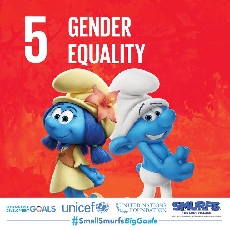 Equality for every person is what makes Smurf Village such a happy place, and the Smurfs know that gender equality is key. Voice your support by going to SmallSmurfsBigGoals.com now.  #SmallSmurfsBigGoals #TeamSmurfs