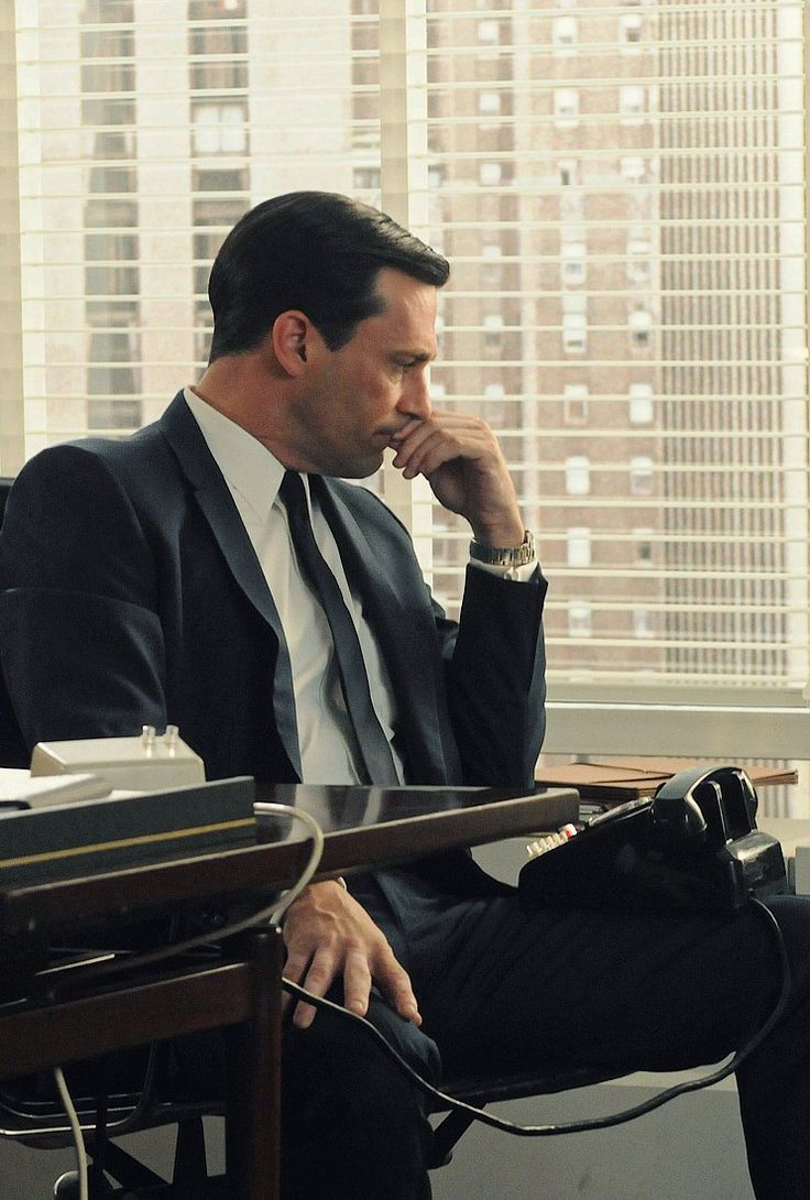 Don Draper. A scoundrel. Over here, we like his sharp clothing.