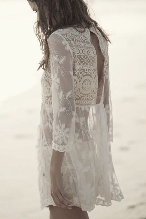 Ilusiones vestido blanco corto