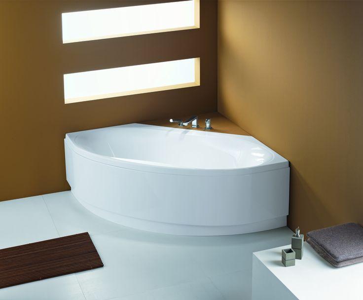 Oltre 25 fantastiche idee su Vasca da bagno ad angolo su Pinterest  Vasca ad angolo, Piccola ...