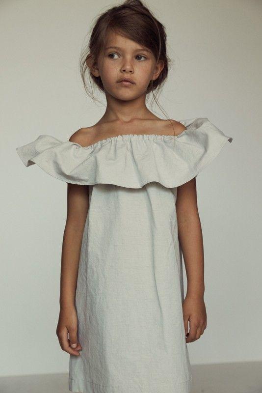 Off the shoulder little girl dress