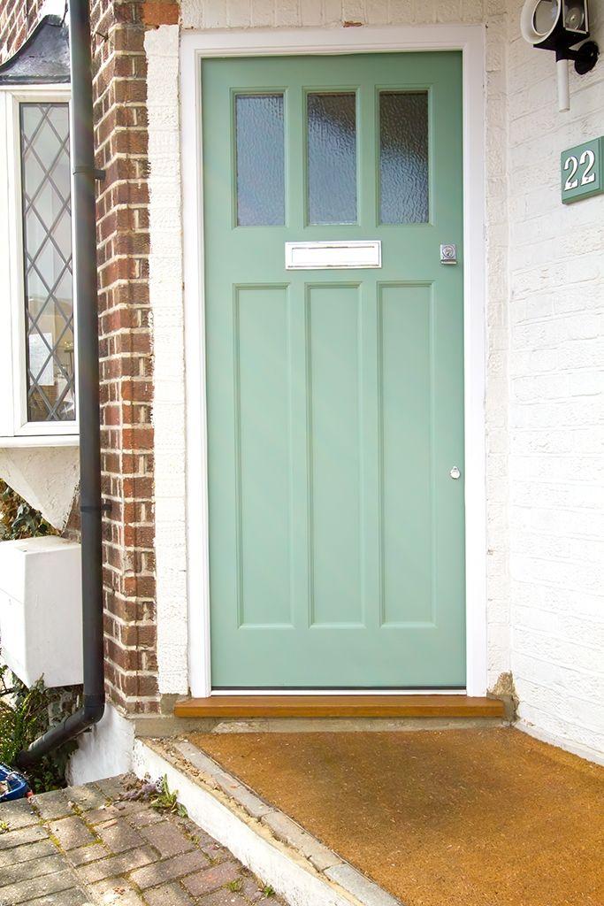1930s 3 Light Door Painted In Sage   External Doors   1920's And 1930's