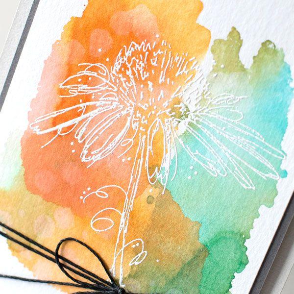 Watercolor Backgrounds with Darkroom Door Stamps | Simon Says Stamp Blog
