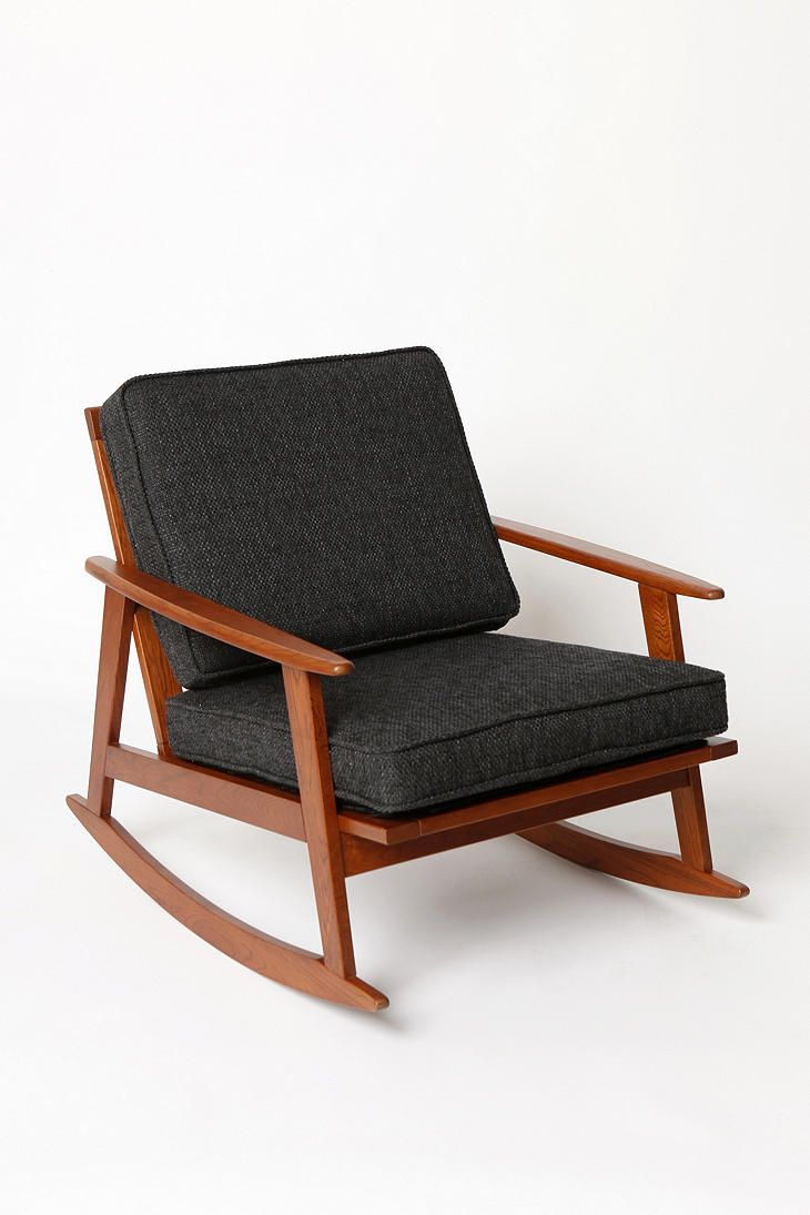 Mid century wood rocking chair - Mid Century Rocker Chair Modern Rocking Chairs By Urban Outfitters