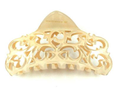 FRANCE MADE ACETATE HAIR CLAMP CLAW CLIP BARRETTE GIFT C2018 NUDE HIGH QUALITY