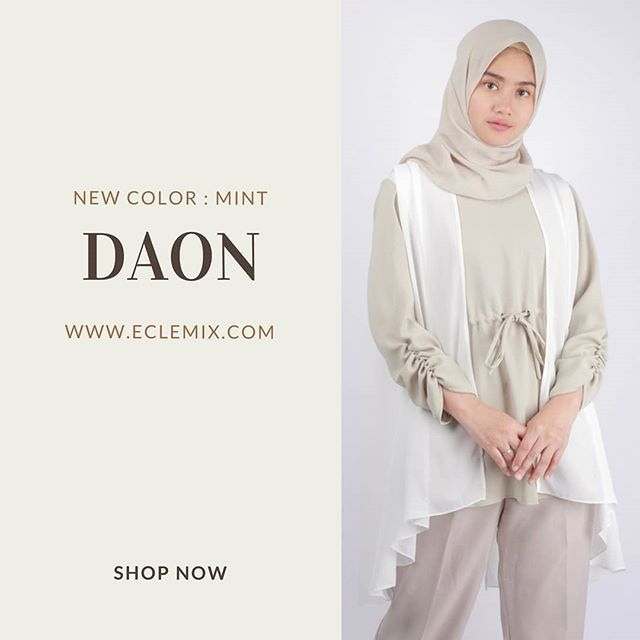 Now available at www.eclemix.com . DAON MINT . or kindly reach our admin contact at:  line@ : @eclemix  WA : 081326004010 . #top #eclemix #fashion #hijab #beauty #localbrand  #bandung #tunik