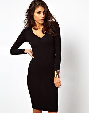 Enlarge ASOS Bodycon Dress with Deep V Neck