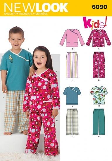 New Look 6090 tricot kinderpyjamas