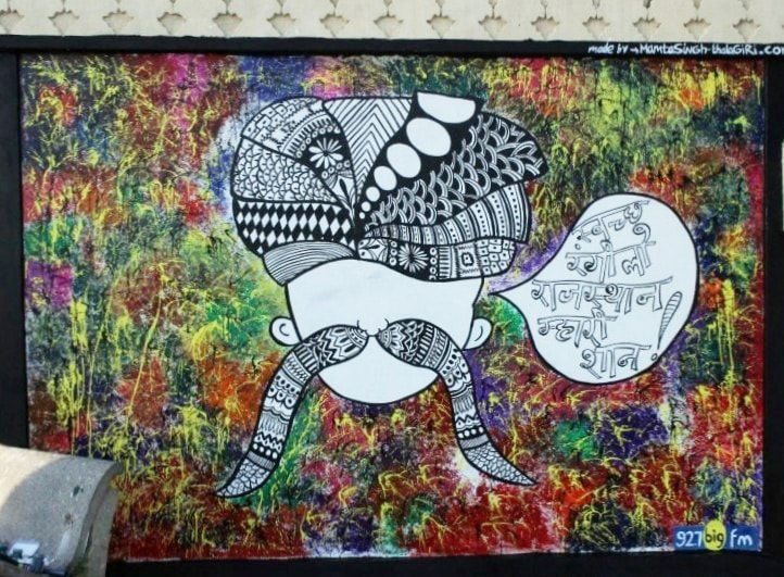 Wall art done at an abandoned wall to give a message to keep the city clean. Udaipur city India #wallart #thalagiri #creativity