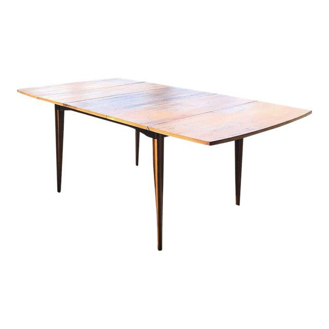 1960s Mid Century Modern Broyhill Walnut Drop Leaf Extending Dining Table For Sale Dining Table Table Drop Leaf Dining Table