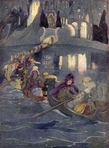 """""""Die zertanzten Schuhe"""" conte de Grimm, illustré par Anne Anderson, 1922"""