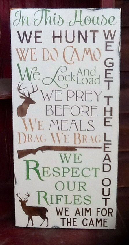 Rustic hunting wooden sign plaque wall hanging camo by AlishaDCP, $49.00