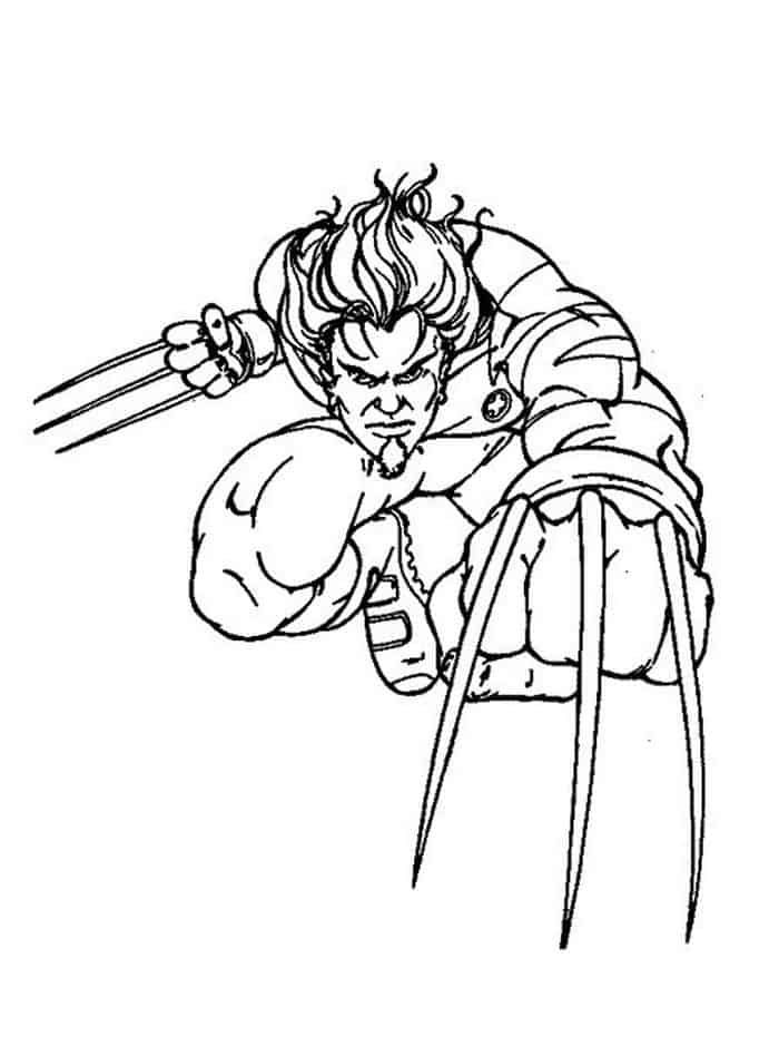 Printable Wolverine Coloring Pages In 2020 Cartoon Coloring