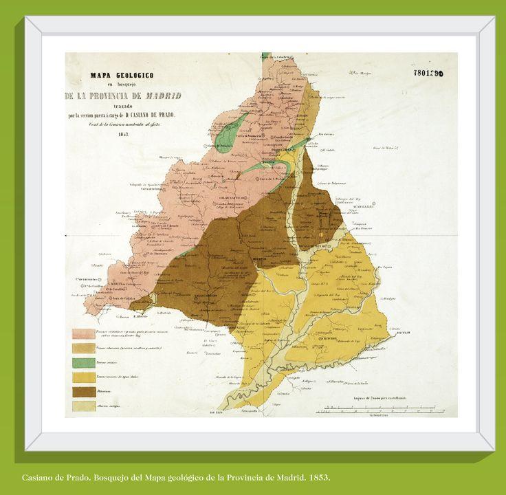 Mapa geolgico en bosquejo de la provincia de Madrid Casiano de
