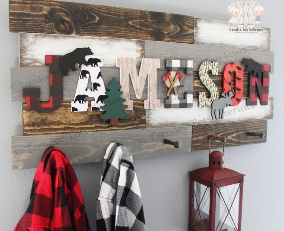 Red Buffalo Plaid Nursery Decor