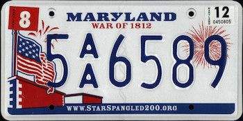 Maryland State License Plate | The US50