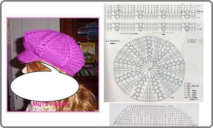 90 best GORROS, TURBANTES... images on Pinterest | Crochet hats, Hat ...