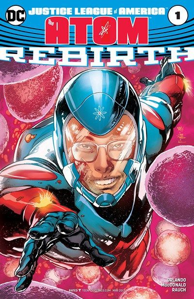 NEW SERIE !!! Justice League of America – The Atom – Rebirth n°1 (04.01.2017) // SPINNING OUT OF THE PAGES OF JUSTICE LEAGUE VS. SUICIDE SQUAD! Meet Ryan Choi, prodigious theoretical physics student with severe allergies and crippling social anxiety. But little does young Ryan know, his first day at Ivy University marks the start of an epic journey into the very heart of the DC Universe!  #captain #atom #dc #rebirth #comics