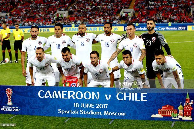 EQUIPOS DE FÚTBOL: SELECCIÓN DE CHILE contra Camerún 18/06/2017 Copa Confederaciones