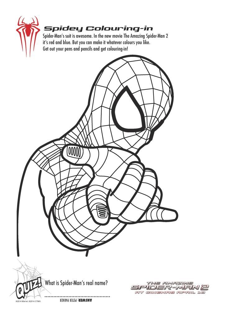 spider girl coloring pages - photo#35