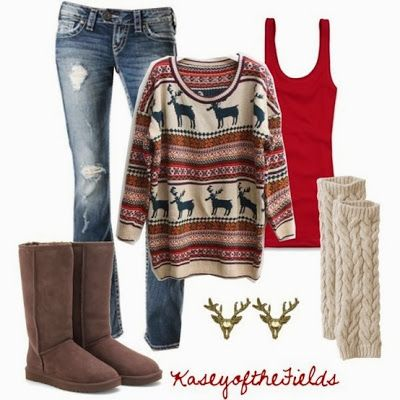 Comfy Christmas morning outfit