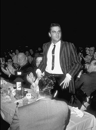 Elvis Presley at the Moulin Rouge in Hollywood, circa 1964.