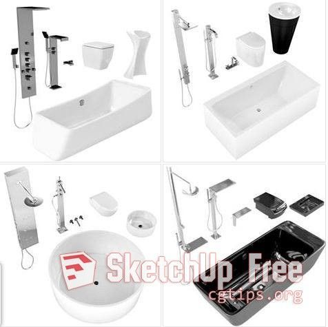 1454 Bathroom Sketchup Model Free Download