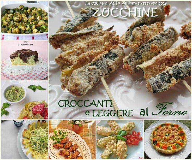 Raccolta di ricette con zucchine, un ottimo e neutro alimento che ci permette tanti abbinamenti di gusto e sapore Raccolta ricette ZUCCHINE La cucina di ASI