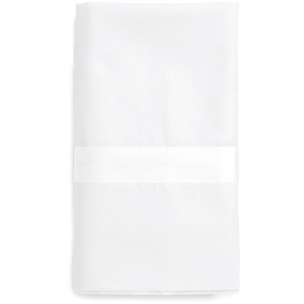Matouk Lowell 600 Thread Count Pillowcase ($108) ❤ liked on Polyvore featuring home, bed & bath, bedding, bed sheets, white, white pillow cases, white bed linen, modern pillow cases, matouk bed linens and white pillowcases