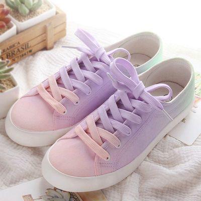 Color:purple gradient.mint green gradient. Size here: 4.5 B(M) US Women/3 D(M) US Men = EU size 35 = Shoes length 225mm Fit foot length 225mm/8.8in 5.5 B(M) US Women/4 D(M) US Men = EU size 36 = Shoes