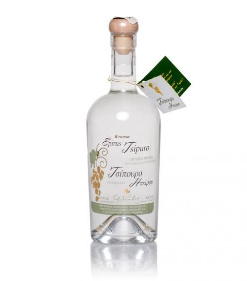"""Reserve Glinavos"" tsipouro from Epirus 500ml available at just 25.00€"