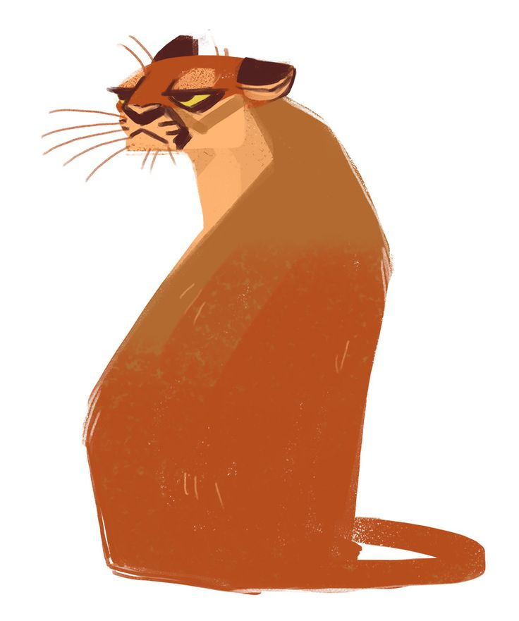 Daily Cat Drawings 331 mountain lion