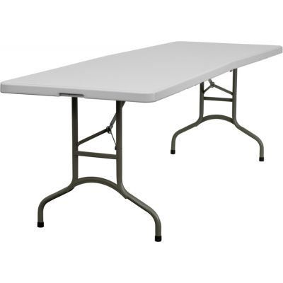 Bi-Fold Folding Table - Granite White by Flash Furniture. $114.99. About Flash FurnitureFlash Furniture prides itself on fine furniture delivered fast. The company offers a wide variety of office furniture, whether for home or commercial use. Leather reception seating, executive desks, ergonomic chairs, and conference room furniture are all available to ship within twenty-four hours. High quality at high speeds!