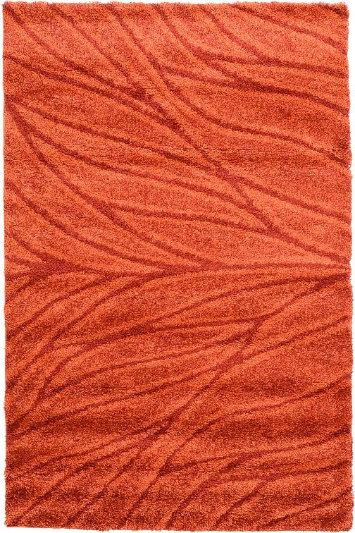 Orange 5' 3 x 8' 2 Multi-Tone Shag Rug | Area Rugs | eSaleRugs